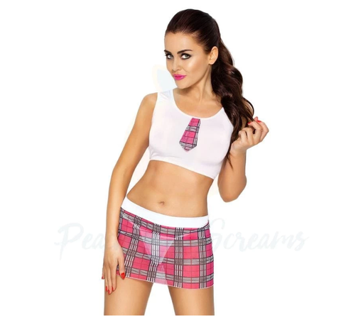 Sexy 2-Piece Torey Schoolgirl Roleplay Uniform Costume For Women