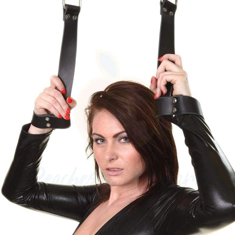 Sexy Black Quick Restraint Wrist Handcuffs for BDSM Bondage Play