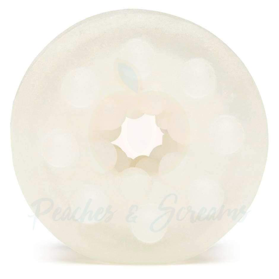 White Bubble-Texture Stroker with Stimulating Internal Bubbles
