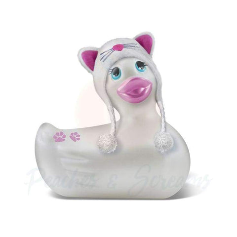 White Kitty Waterproof Vibrating Duck for Clitoral Massage