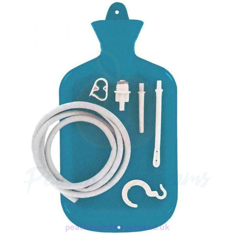 Clean Stream Blue Water Bottle Cleansing Kit with Easy Hanging Hook and Flow Control Clamp for Anal and Vaginal Use