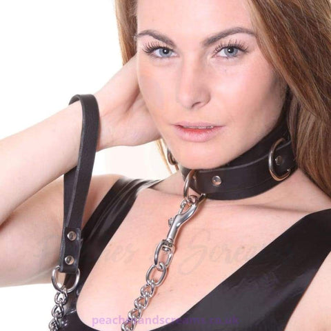 HOUSE OF EROS BDSM COLLAR WITH HEAVY CHAIN FOR BONDAGE
