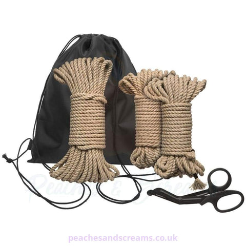 KINK BIND AND TIE INITIATION 5-PIECE HEMP ROPE KIT FOR BONDAGE