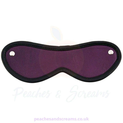 PURPLE BDSM BONDAGE BLINDFOLD EYE MASK