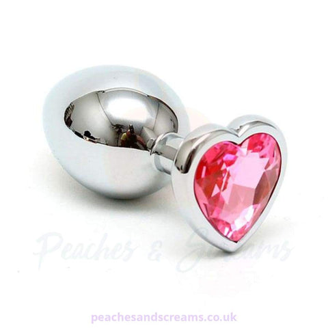RIMBA BEGINNERS STEEL BUTT PLUG WITH HEART-SHAPED CRYSTAL