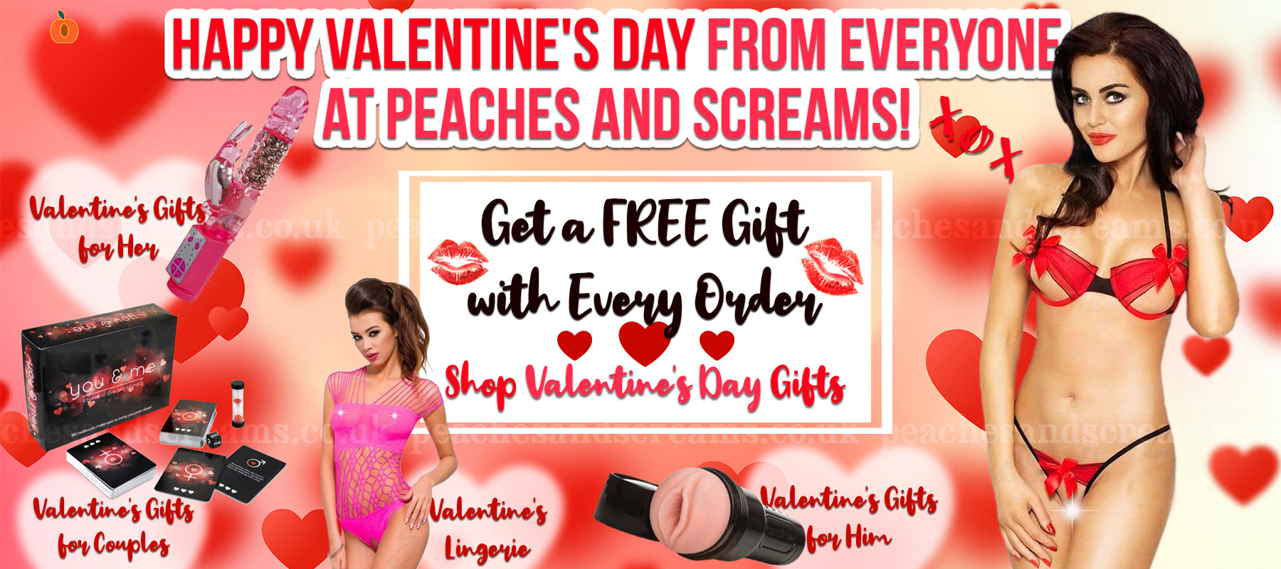 Valentine's Day Lingerie: Red & Pink Lingerie, Bras & Panties
