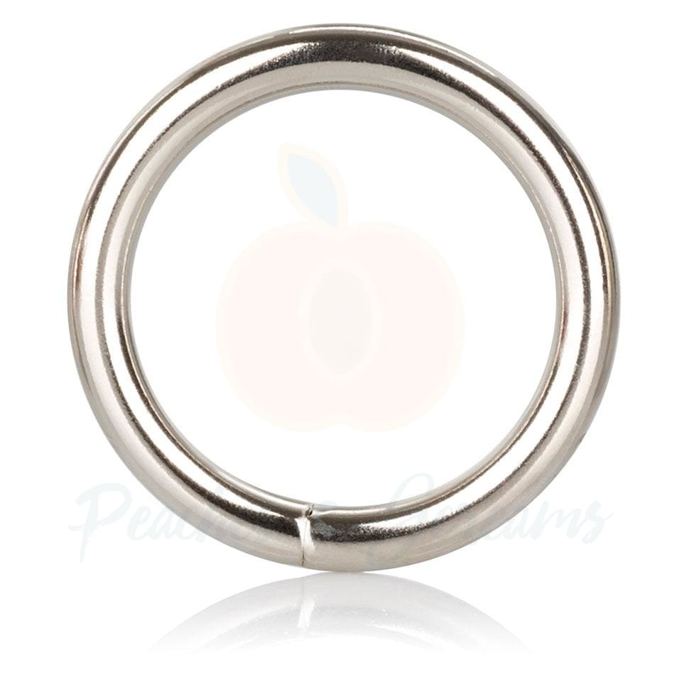 1.5-Inch Diameter Medium Metal Cock Love Ring for Men - Necronomicox