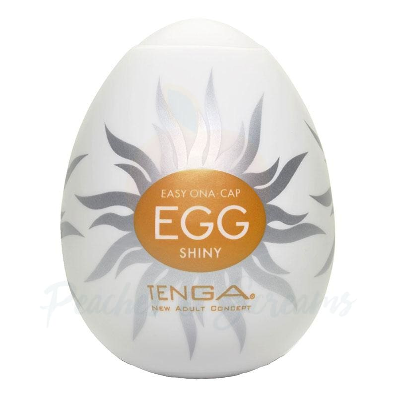 2.5-Inch Tenga Egg Stretchable Radiating Ribbed Male Masturbator - 🍑 Peaches and Screams
