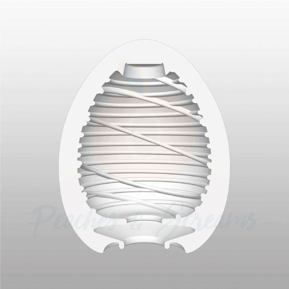 2.5-Inch Tenga Egg Stretchy Ribbed Silky Egg Male Masturbator - Peaches and Screams