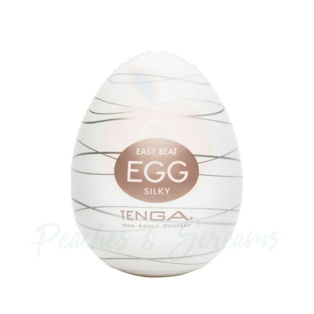 2.5-Inch Tenga Egg Stretchy Ribbed Silky Egg Male Masturbator - 🍑 Peaches and Screams