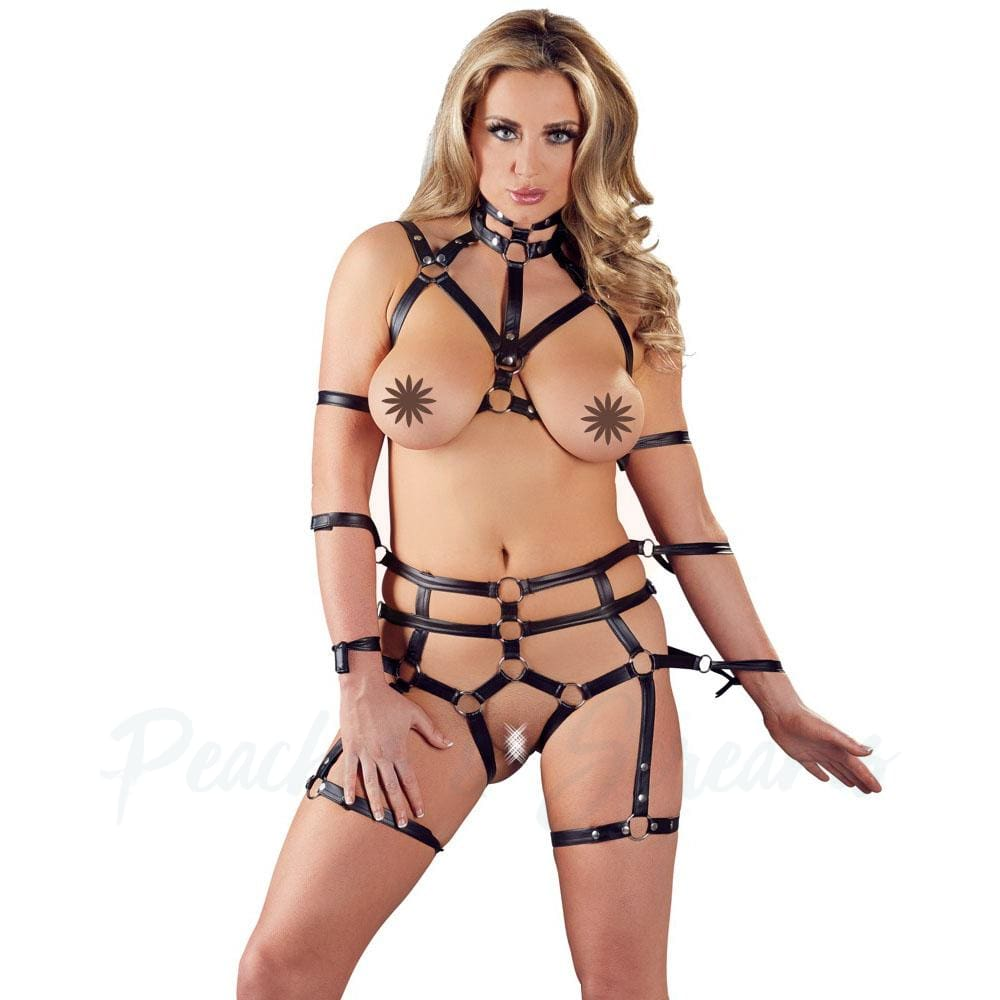 2 Piece Matt Look Bondage Set - L/XL - 🍑 Peaches and Screams