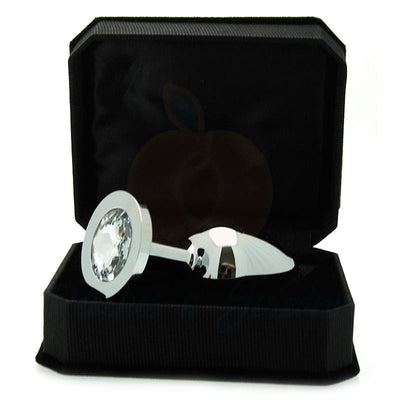 3.8-Inch Luxury Stainless Steel Diamond Butt Plug - Peaches and Screams