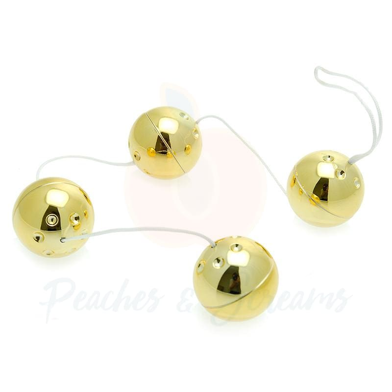 4 Stimulating Vibrating Love Wa Pleasure Balls in Gold - Necronomicox