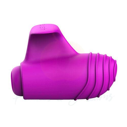 5-Function Bswish Bteased Purple Stimulating Finger Vibrator - Peaches and Screams
