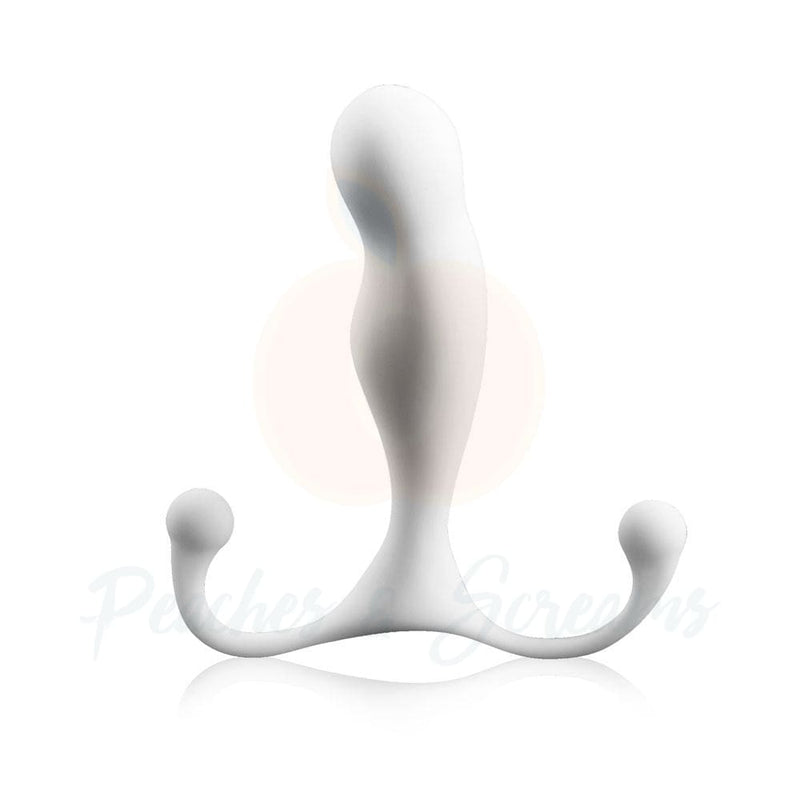 5-Inch White Aneros Maximus Trident Prostate Massager - Peaches and Screams