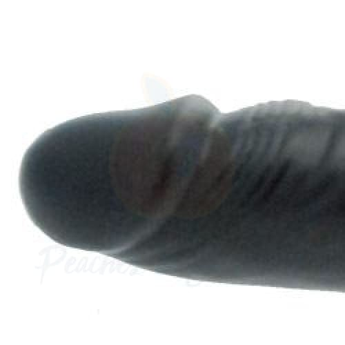 6-Inch Black Dildo with Cock Ring for Solo or Double Penetration - Necronomicox