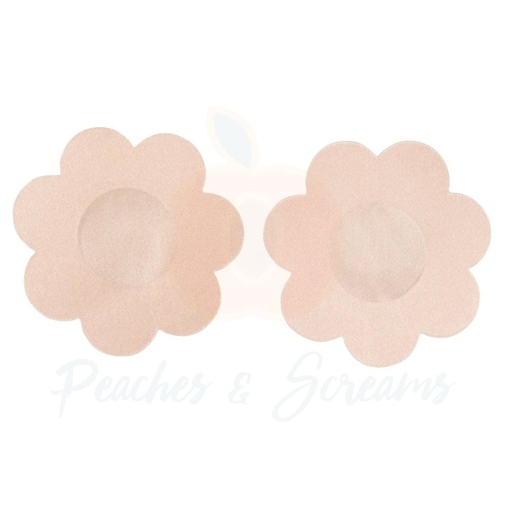 6 Pairs Of Skin Tone Silicone Bra Nipple Covers - Peaches and Screams