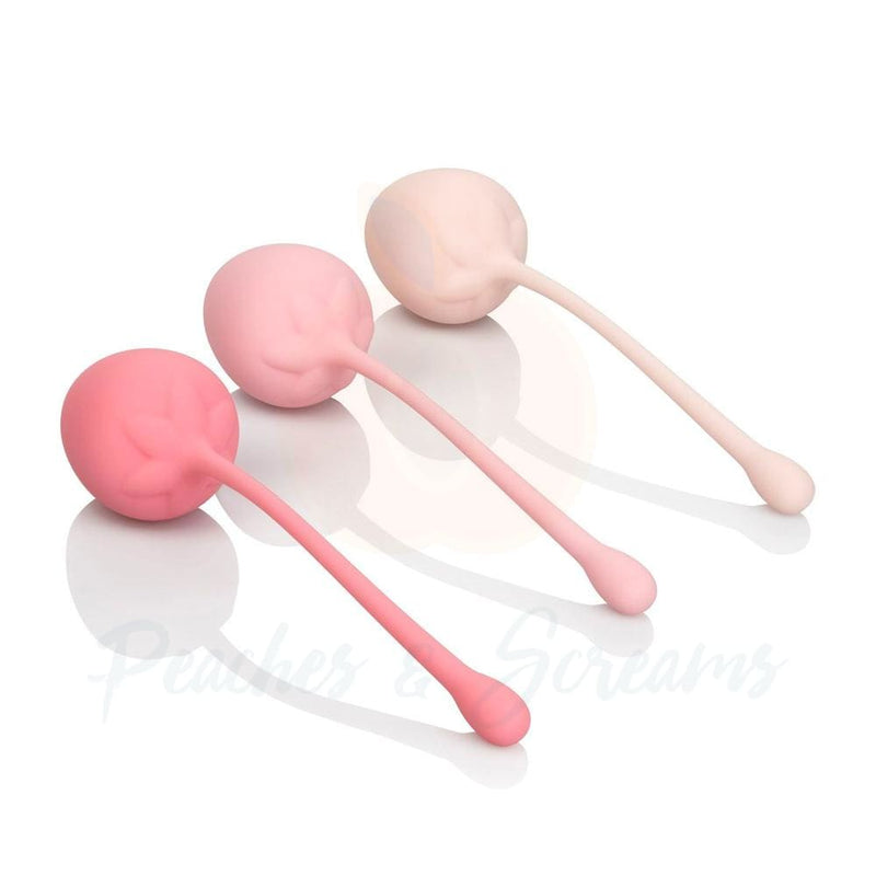 6-piece Strawberry Kegel Training Set with 6 Gradually Weighted Exercises - Peaches and Screams