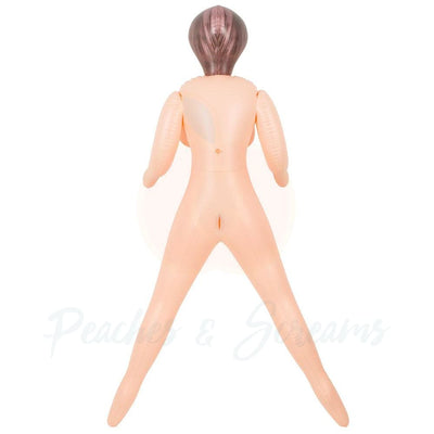65-Inch Transexual Sex Doll with 2 Love Holes and Removable Dildo - Peaches & Screams
