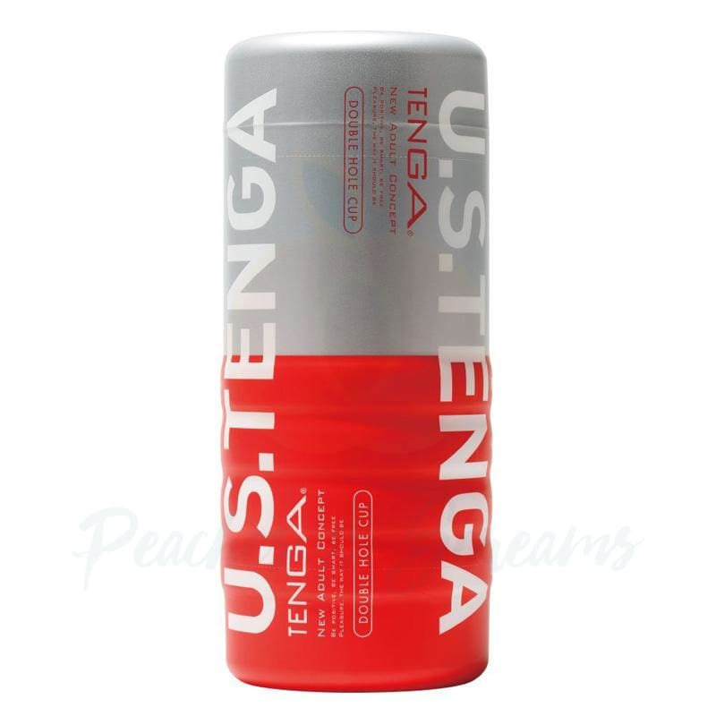 7-Inch Tenga Double Hole Male Masturbator Cup - Peaches and Screams