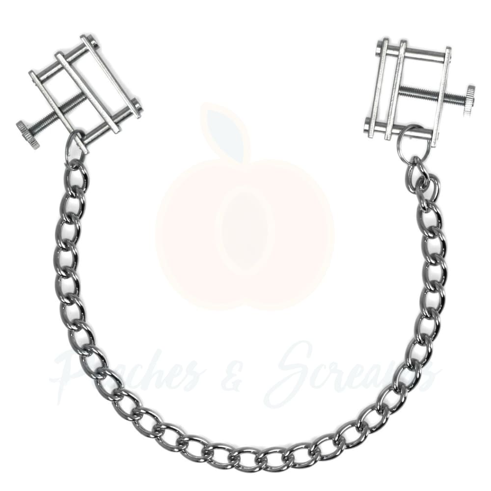 Adjustable Steel BDSM Nipple Clamps - Necronomicox