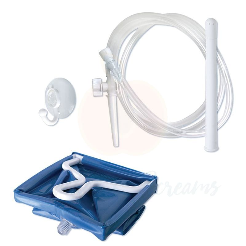 Anal Enema Douche Kit with 2l-Bag and Suction Cup Wall Mount - Necronomicox