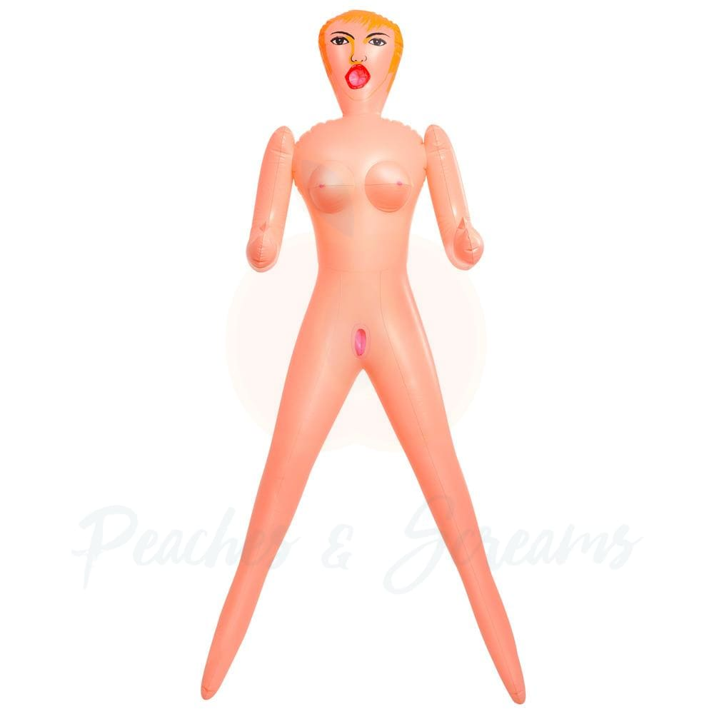Becky the Beginner Life-Size Inflatable Blow-Up Sex Love Doll - 🍑 Peaches and Screams