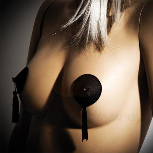 Bijoux Indiscrets Sexy Black Nipple Cover Pasties for Women - Necronomicox