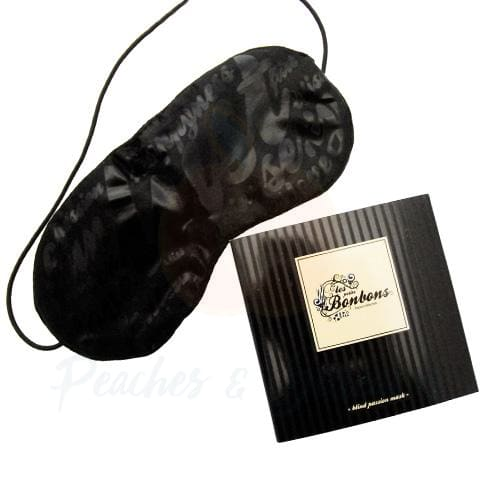 Bijoux Petits Bonbons Silky Black Unisex Blindfold - Peaches and Screams