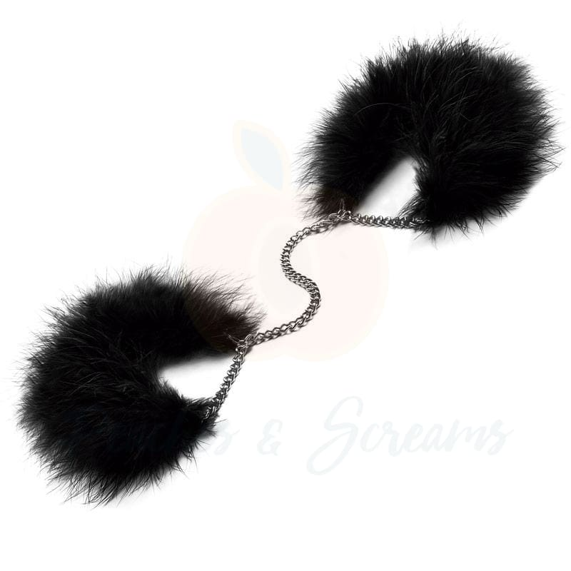 Bijoux Za Za Zu Luxury Feather Handcuffs for BDSM Bondage Play - Necronomicox