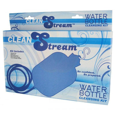 Blue Water Bottle Cleaning Kit for Anal and Vaginal Use - Peaches & Screams