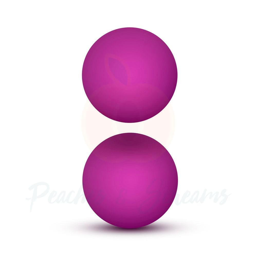 Blush Novelties Deluxe Pink Double-O Weighted Kegel Ben Wa Balls - Necronomicox