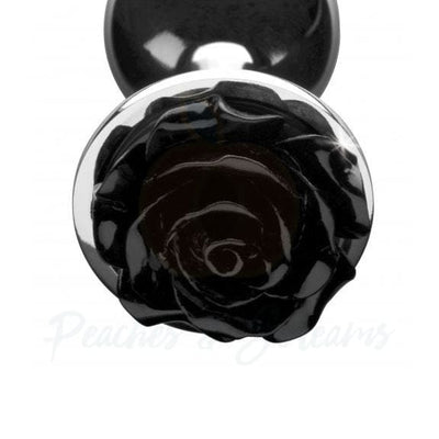 Booty Sparks Black Rose Small Aluminium Metal Butt Plug - Necronomicox