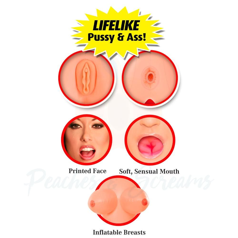 Brooke Le Hook Life-Size Inflatable Blow-Up Sex Love Doll - Peaches and Screams