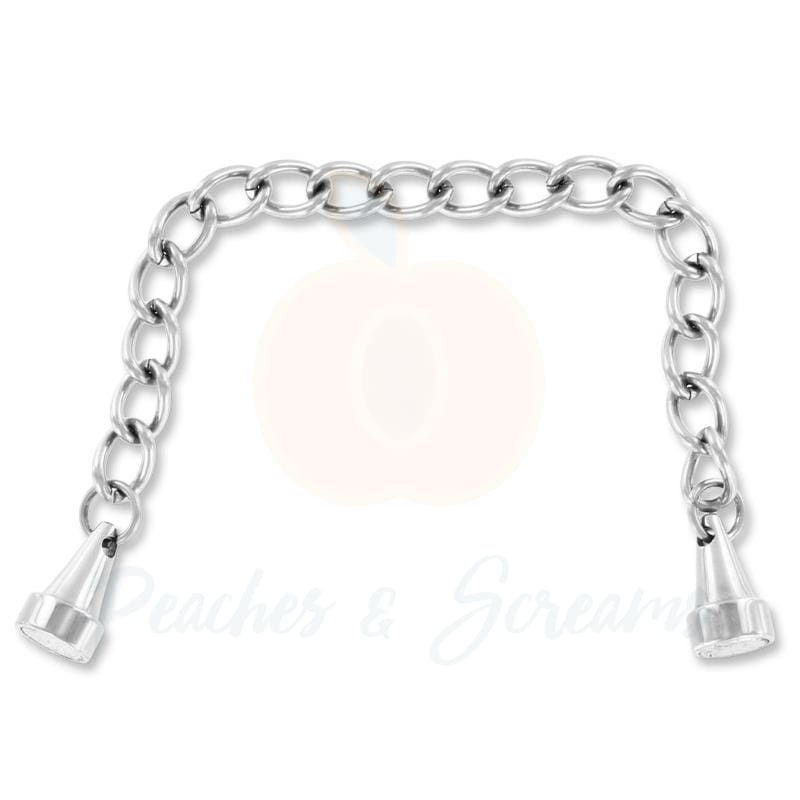 Brushed Steel Mini Magnetic Nipple Clamps Pincher x1 - Peaches and Screams