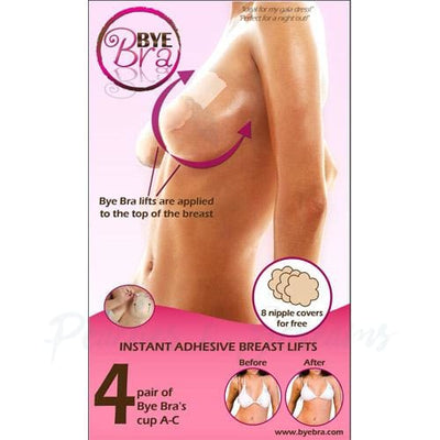 Bye Bra Waterproof Hypoallergenic Instant Breast Lift 4 Sets - Necronomicox