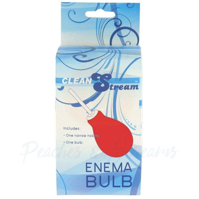 Clean Stream Red Enema Douching Bulb for Vaginal and Anal Use - Necronomicox