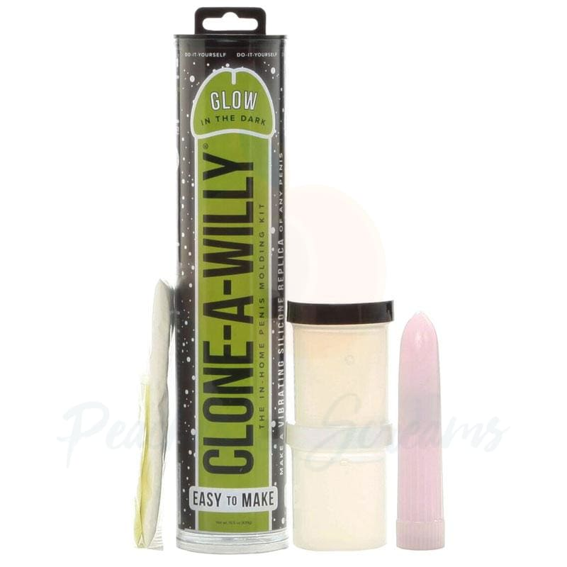 Clone-A-Willy Glow-In-The-Dark Penis Dildo Moulding Kit - Peaches and Screams