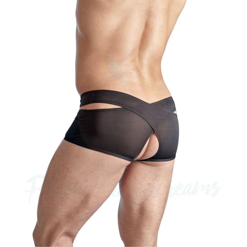 Crotchless Sexy Black Briefs for Men - 🍑 Peaches and Screams