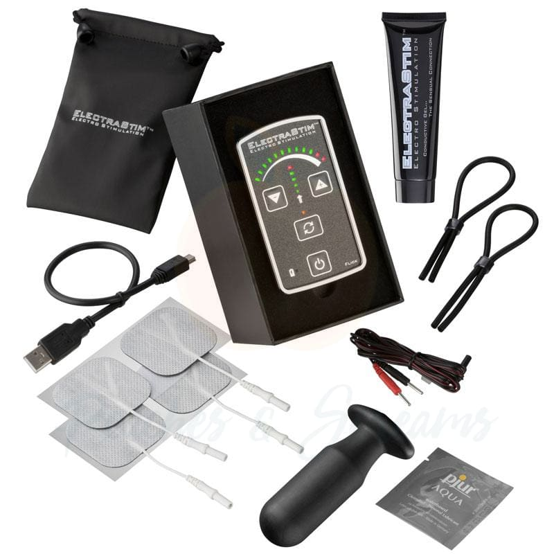 ElectraStim Flick Electrosex Stimulator Set for Couples Bondage - 🍑 Peaches and Screams