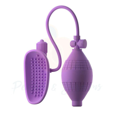Fantasy for Her Purple Vibrating Pussy Pump with Clit Stim - Peaches and Screams