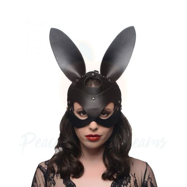 Faux Leather Bad Bunny Bunny Bondage Mask - 🍑 Peaches and Screams