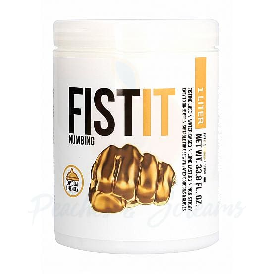 Fist It Numbing Water-Based Anal Sex Lube 1l - 🍑 Peaches and Screams