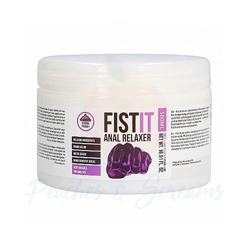 Fist It Water-Based Anal Relaxing Sex Lube 500ml - 🍑 Peaches and Screams