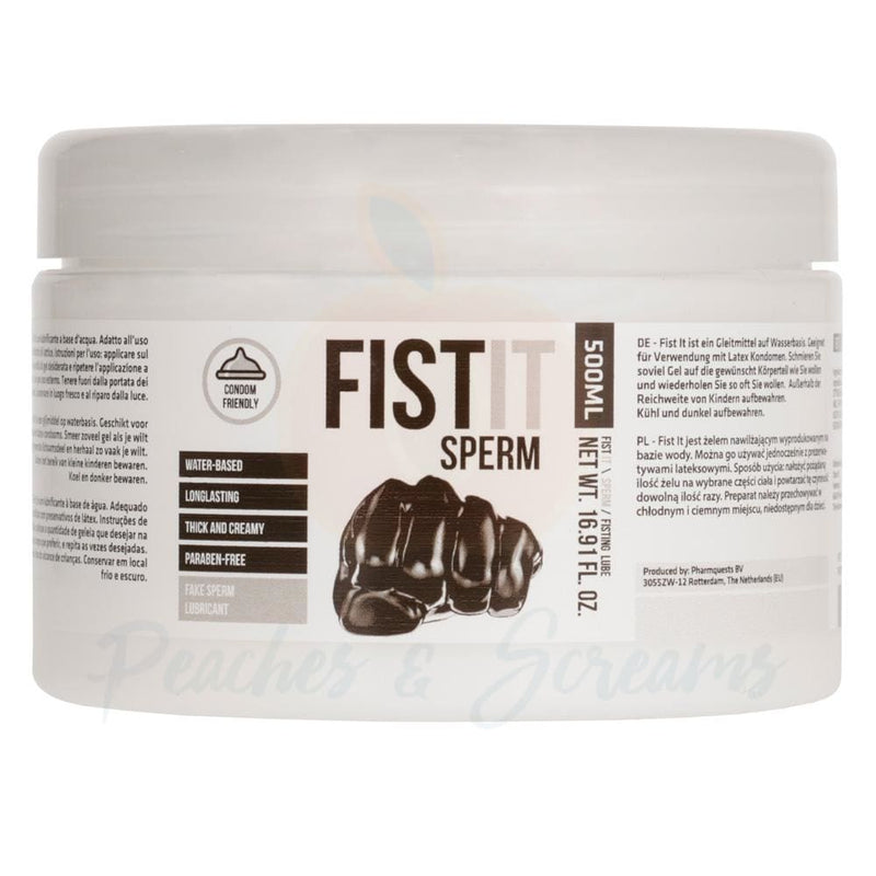 Fist It Water-Based Sperm Sex Lube 500ml - Peaches and Screams