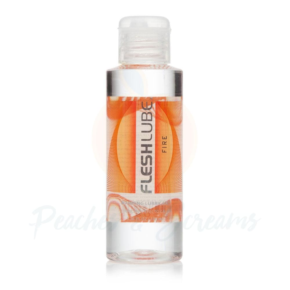 Fleshlube Fire Hot Effect Warming Sex Lubricant 100ml - Peaches and Screams