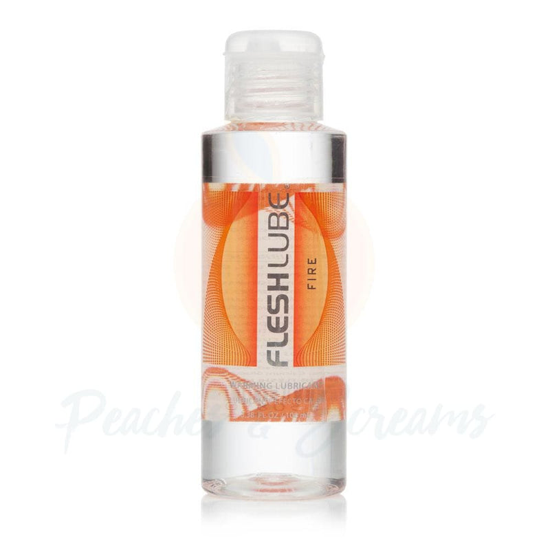 Fleshlube Fire Hot Effect Warming Sex Lubricant 100ml - Necronomicox
