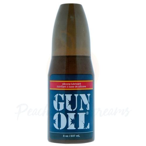 Gun Oil Silicone-Based Intimate Personal Anal Sex Lube 8oz - Peaches and Screams