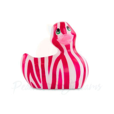 I Rub My Duckie Lay-On Discreet Waterproof Vibrator in Wild Tiger Duck Shape - Peaches and Screams
