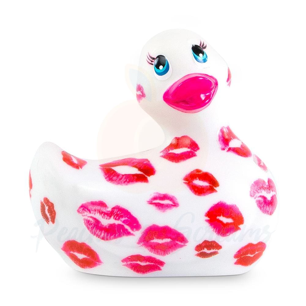 I Rub My Duckie Romance White And Pink Waterproof Body Massager Vibrator - Necronomicox